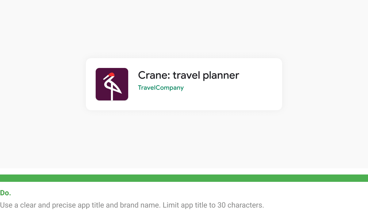 google play app listing perfect