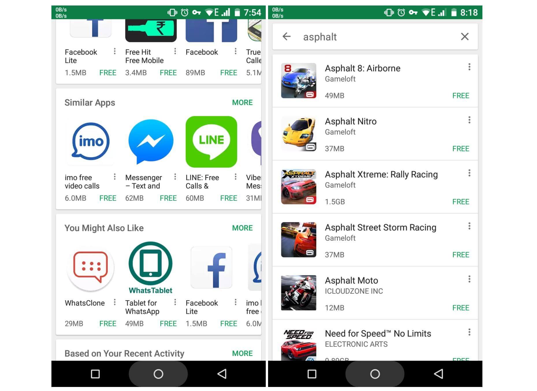 google play app size