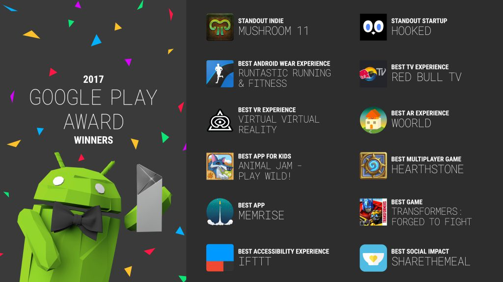 google play awards 2017 winners