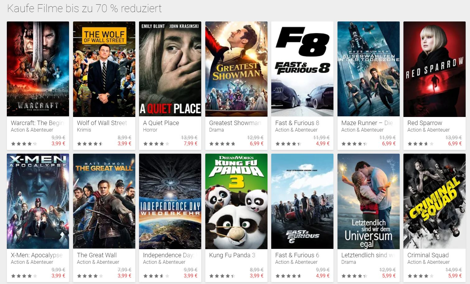 google play black friday movies
