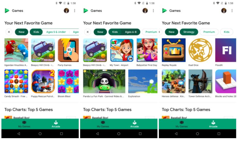 google play games arcade2