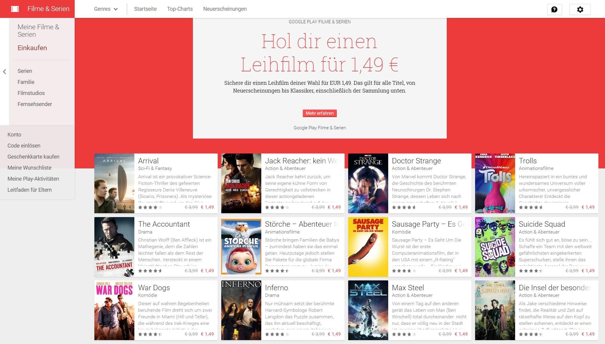google play leihfilm