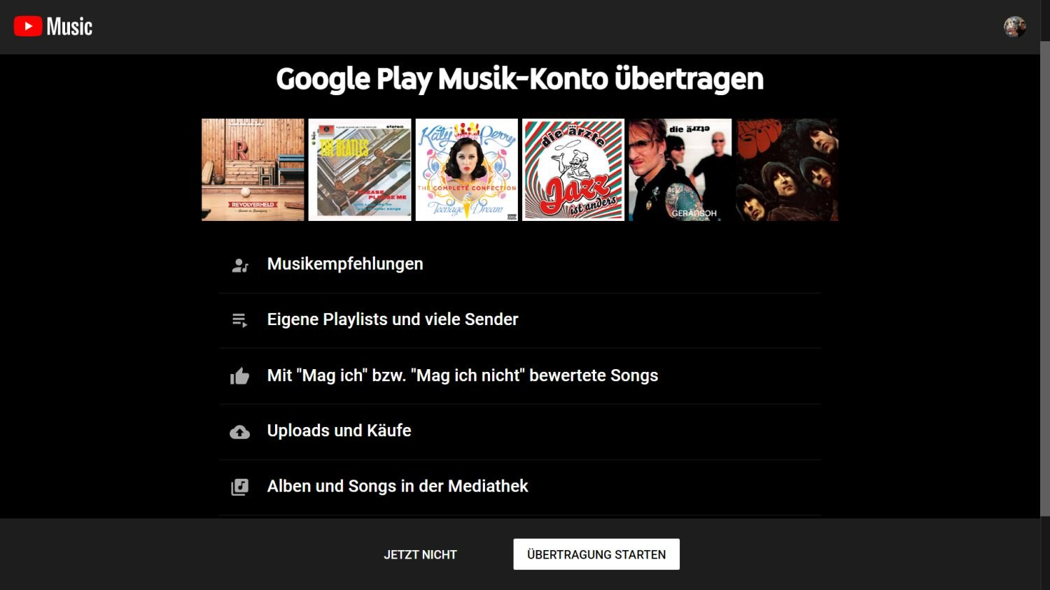 google play music transfer tool youtube music