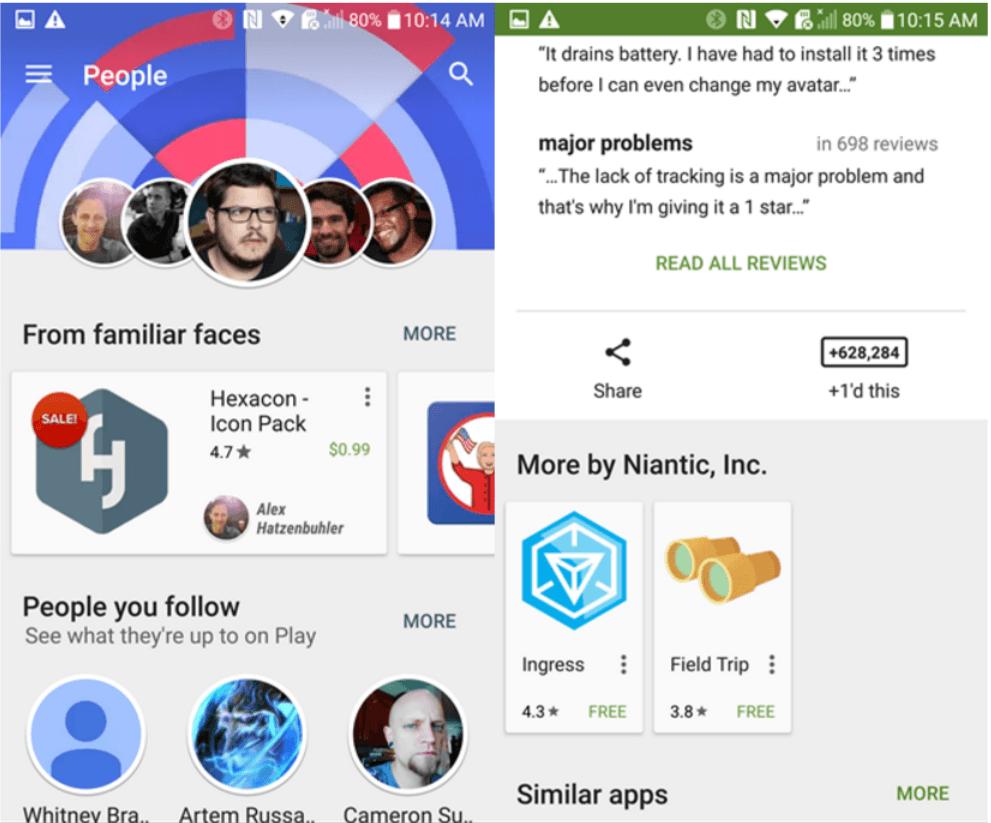 google play plus integration