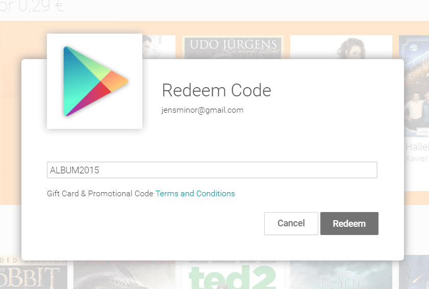 google play redeem