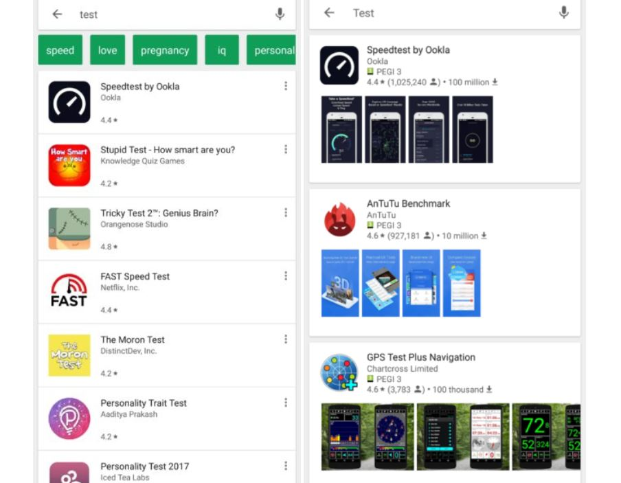 google play store test design