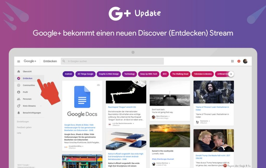 google plus discover
