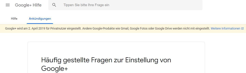 google plus einstellung