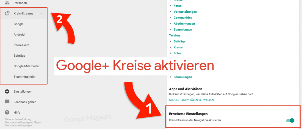google plus kreise
