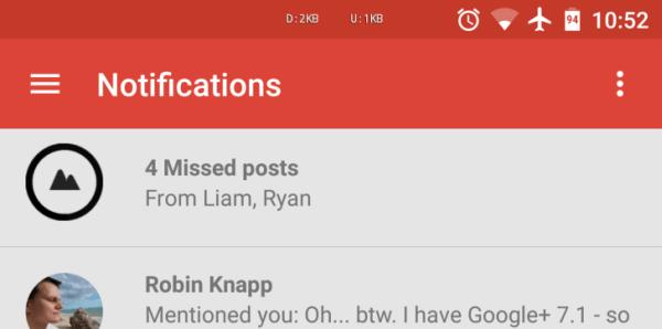 google plus notifications