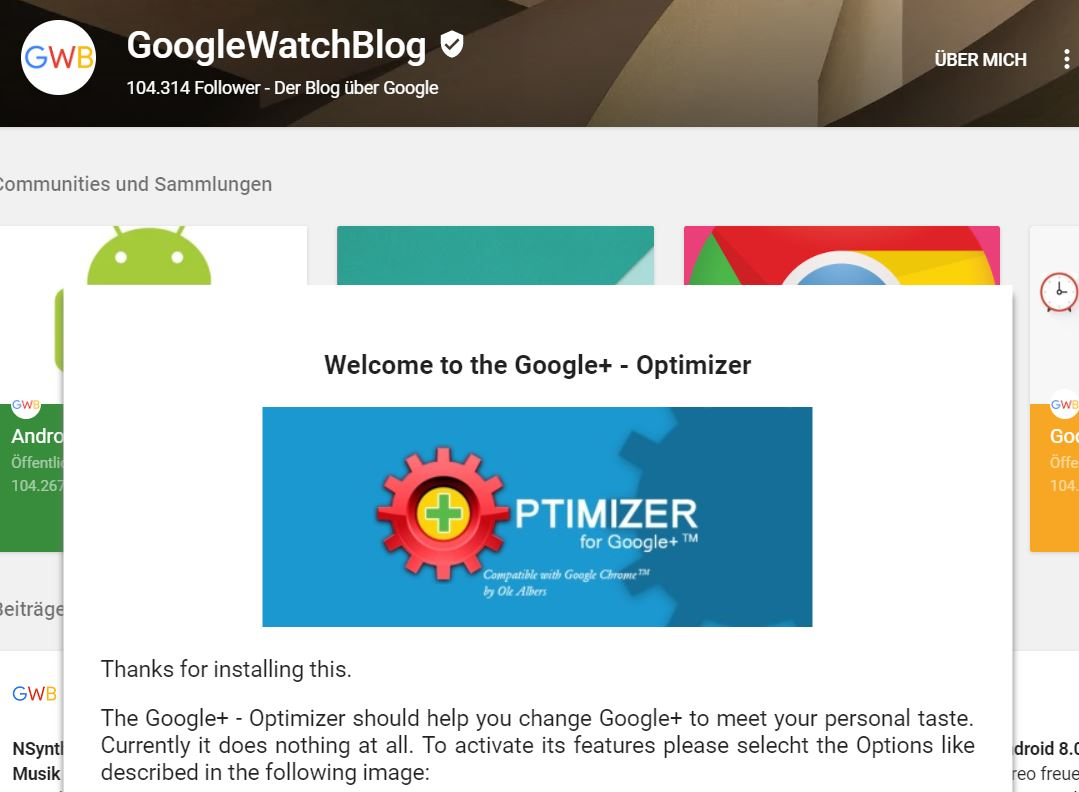 google plus optimizer