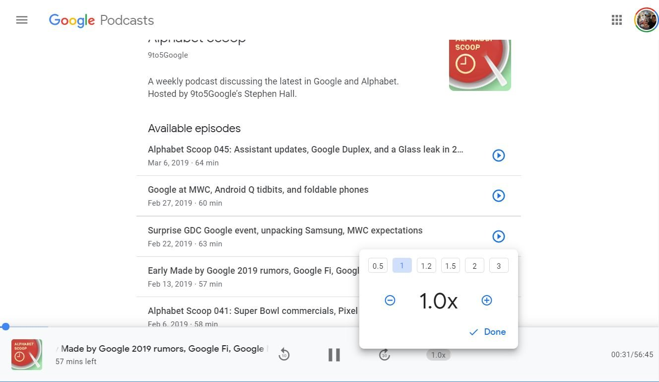 google podcasts desktop