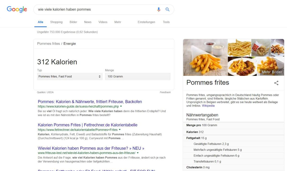 google pommes
