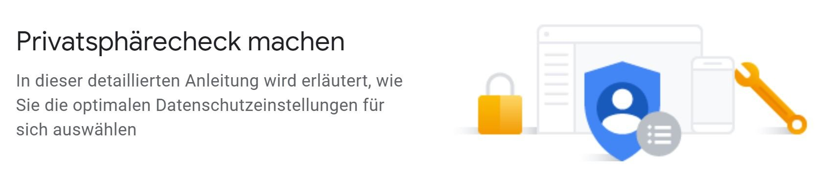 google privacy check