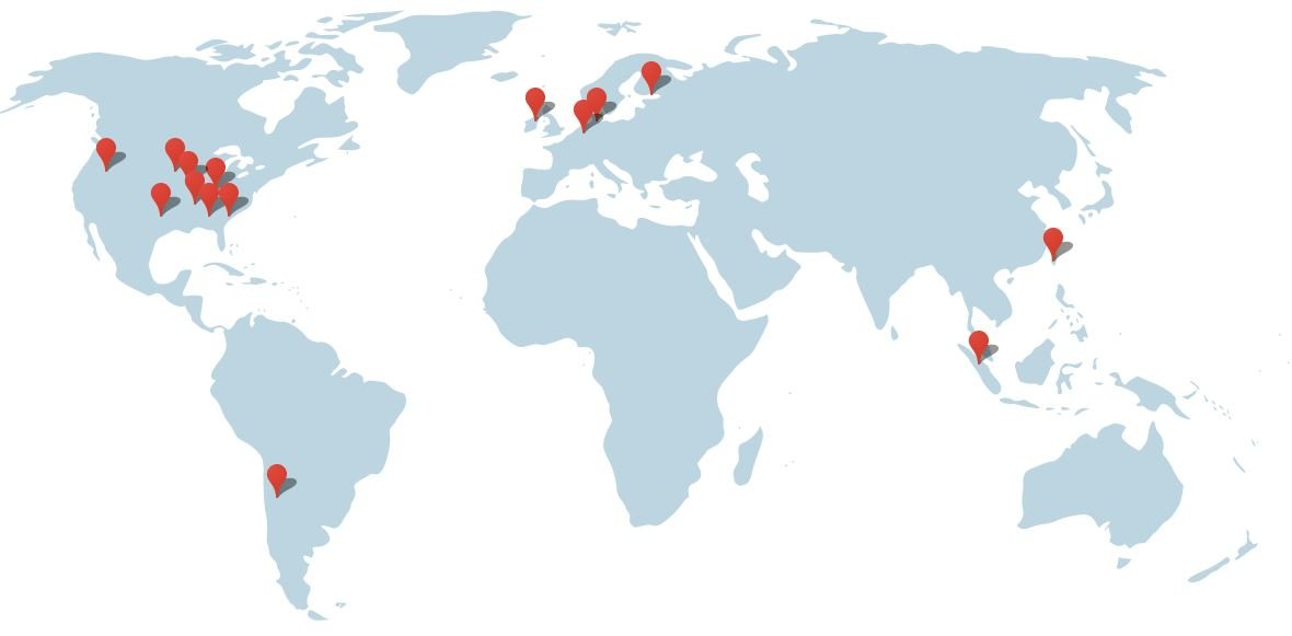 google rechenzentren world map