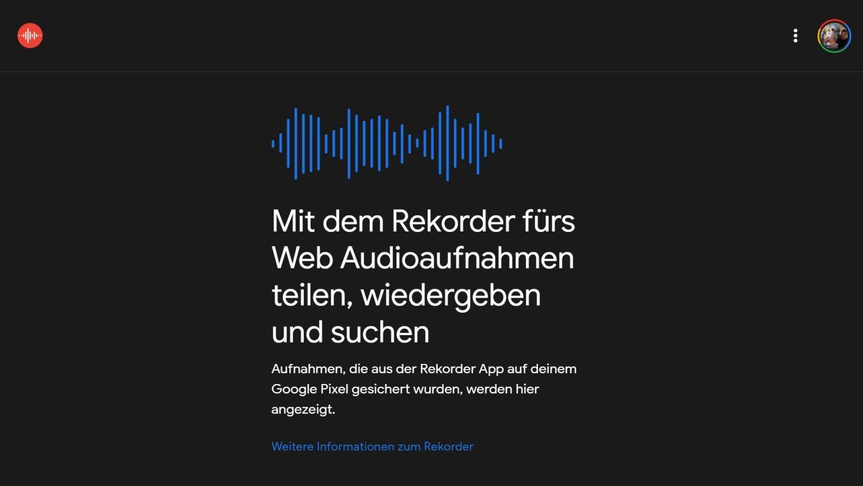 google rekorder web app