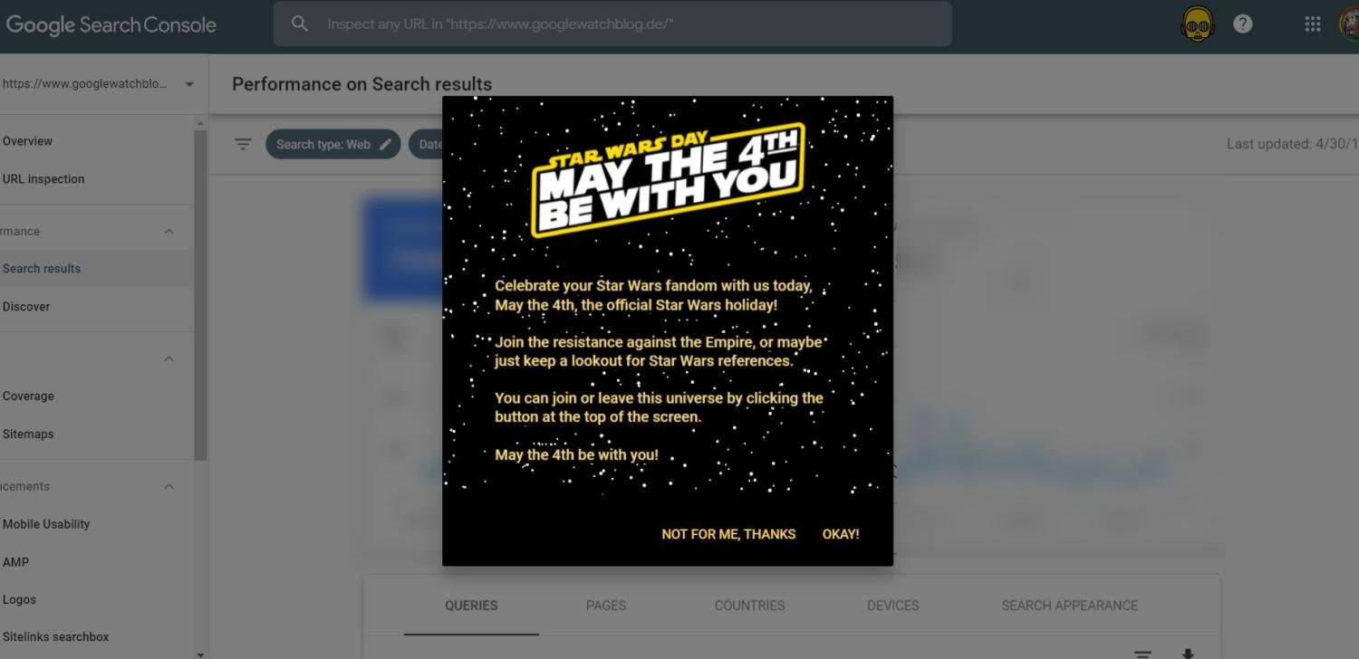 google search console star wars