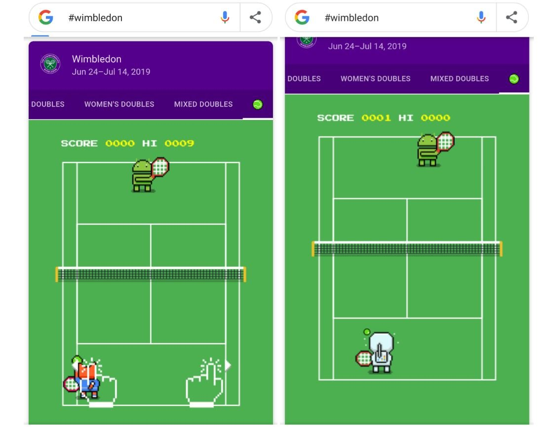 google search fun easteregg wimbledon