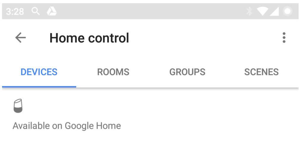 google search home control