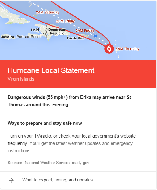google search hurricane