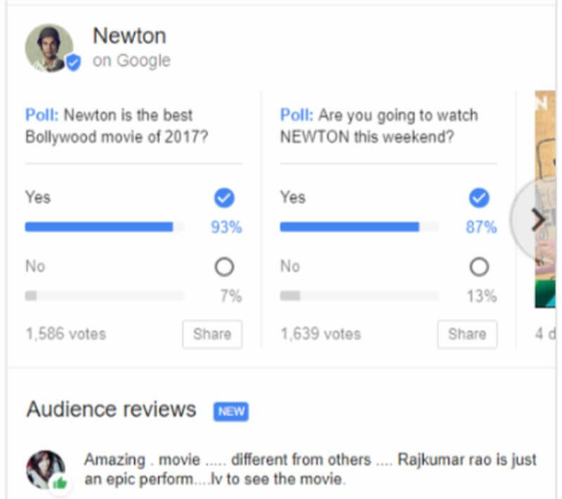 google search movies votes