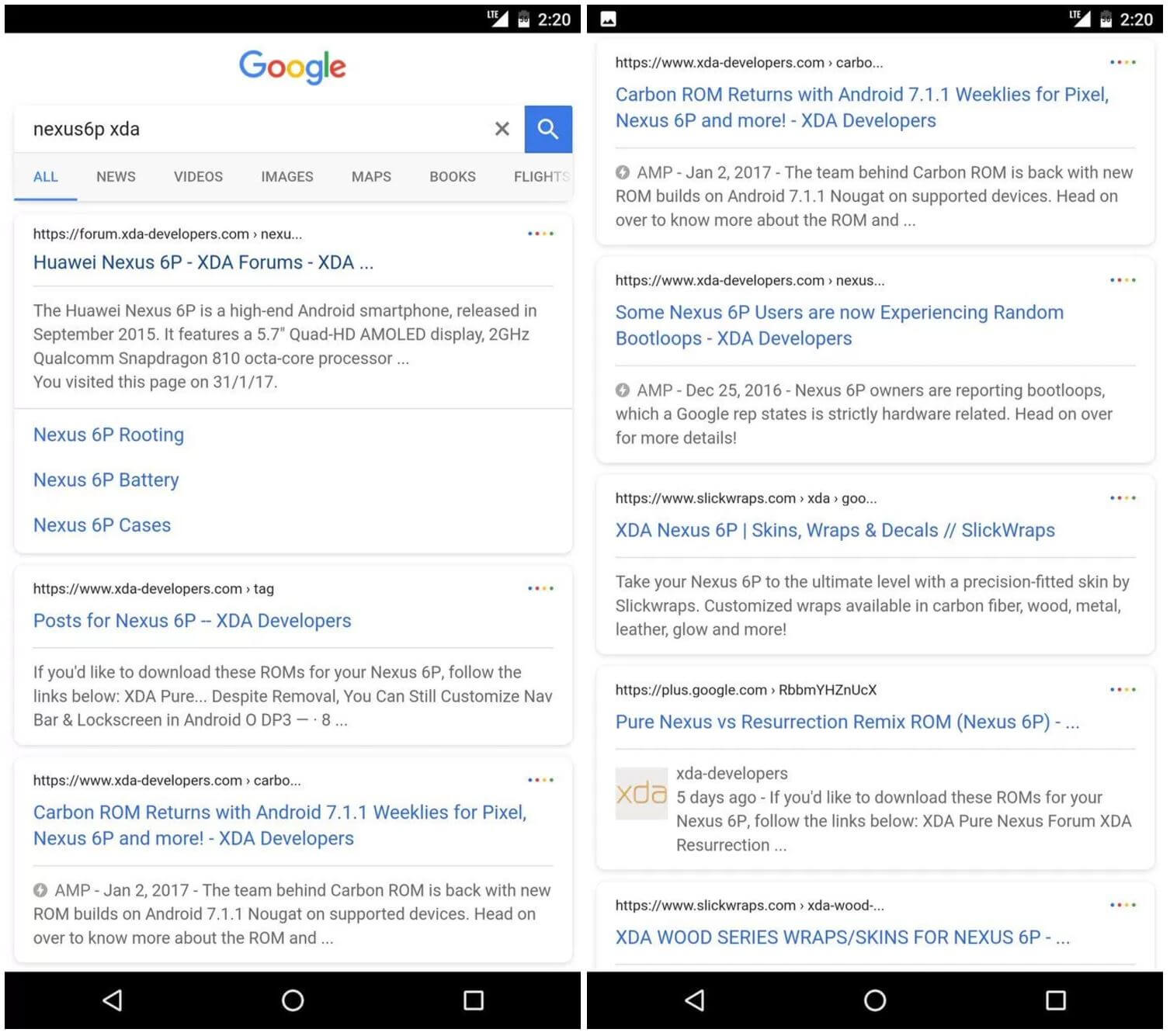 google search new design mobile