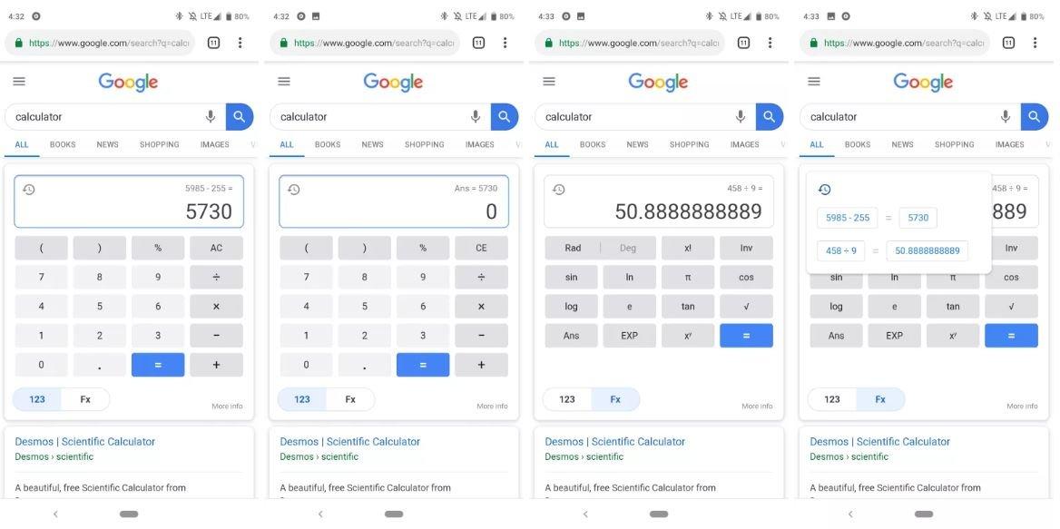 google search rechner new design