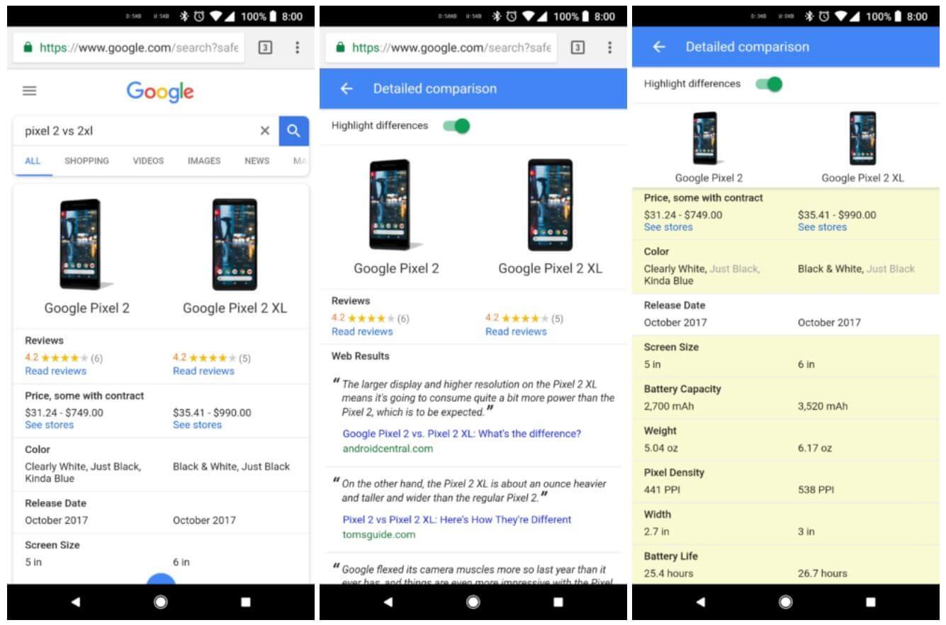 google search vergleich