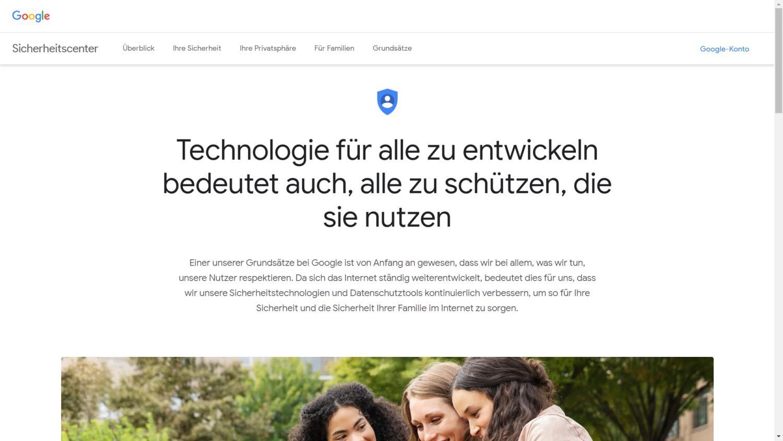 google sicherheitscenter