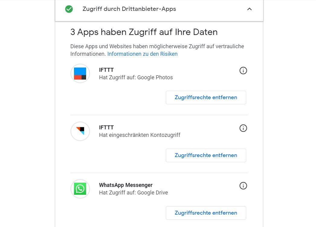google sicherheitscheck apps