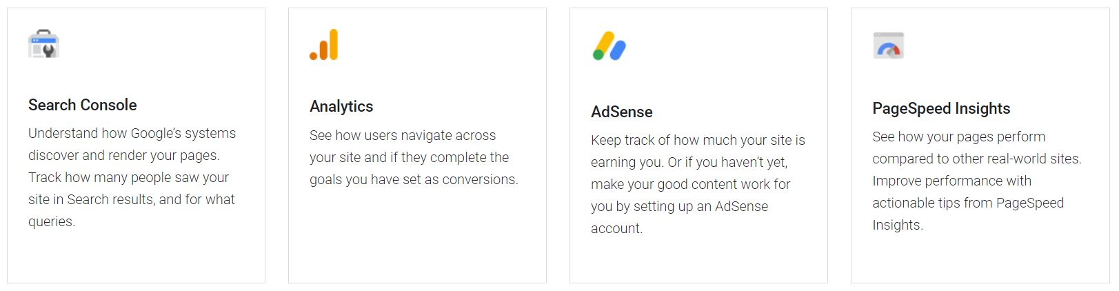 google site kit tools