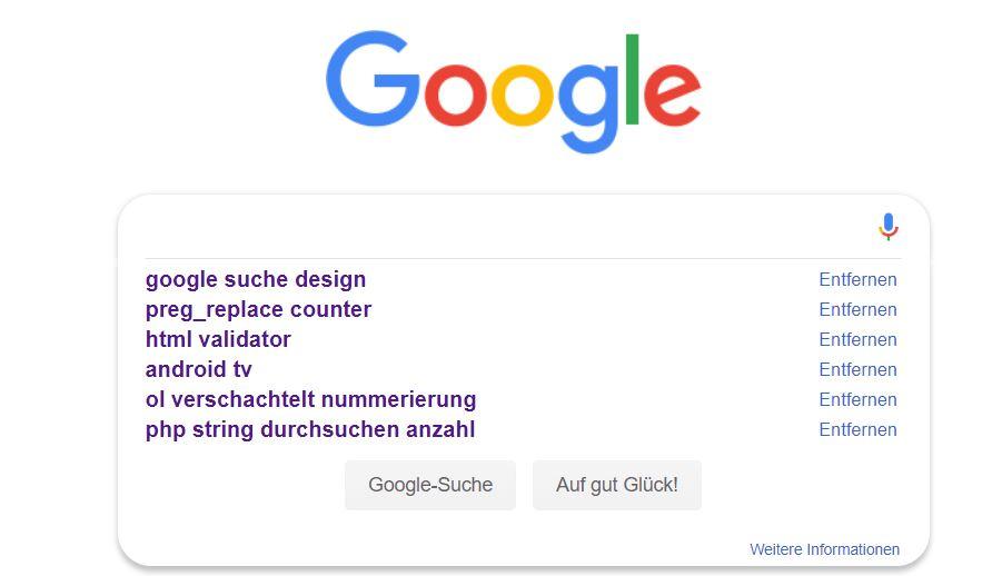 google startseite suchbox