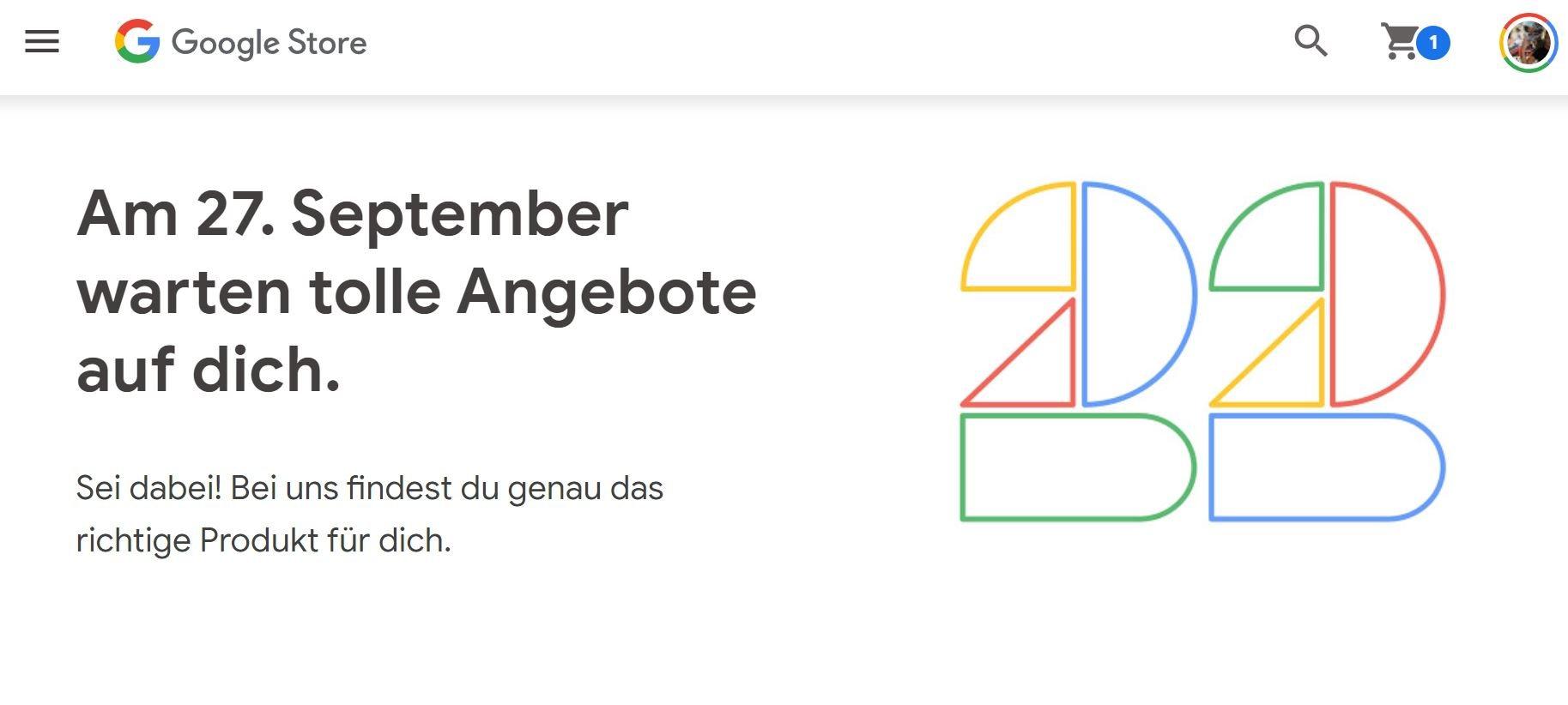 google store 27 september aktion