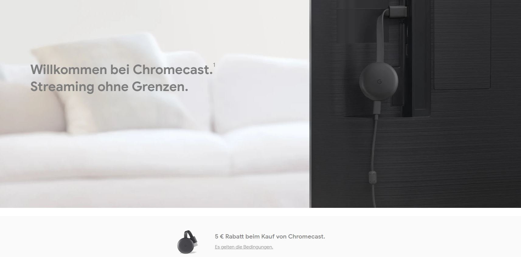 google store aktion chromecast