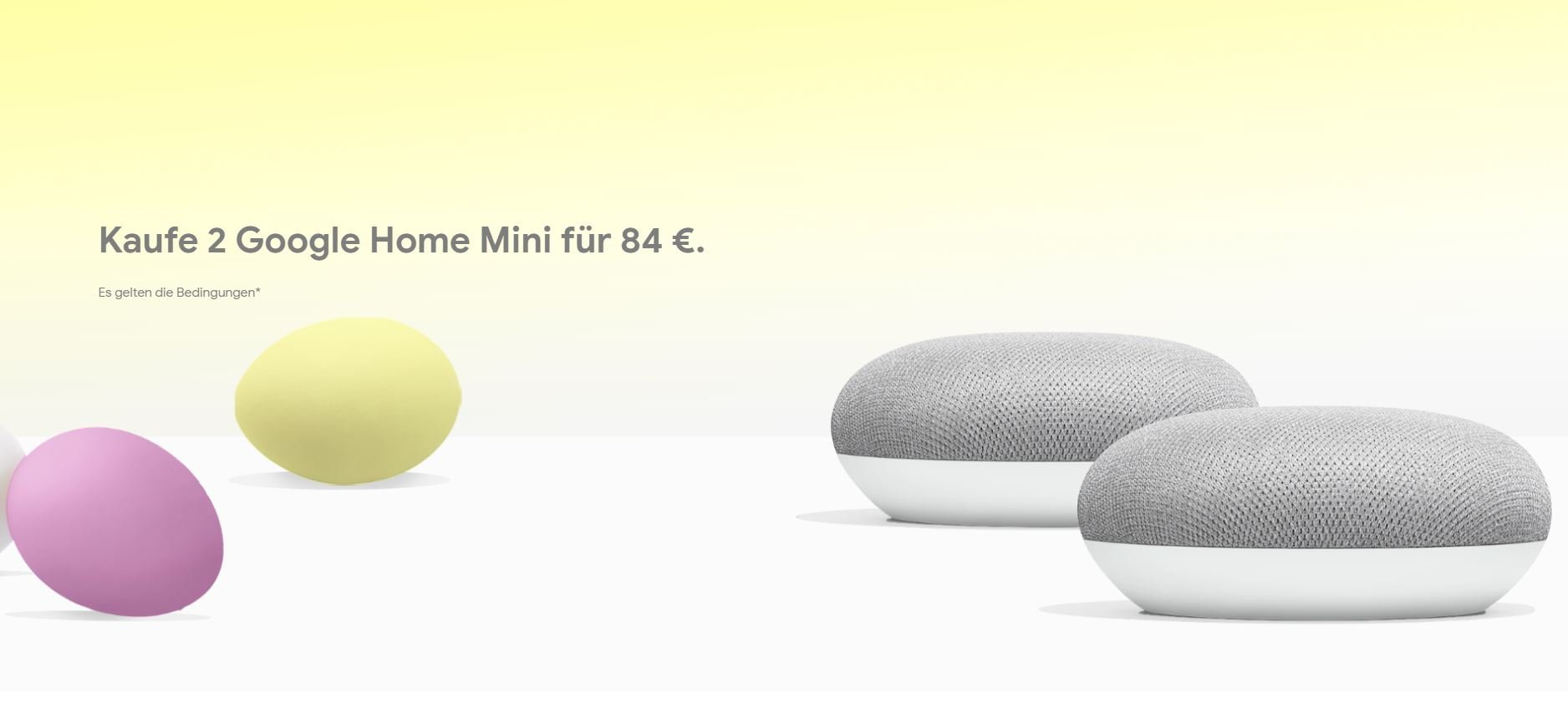 google store aktion google home mini