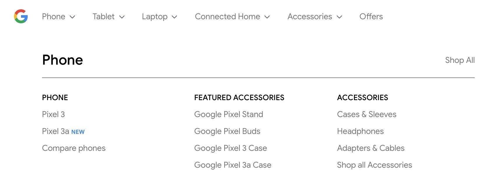 google store pixel 3a