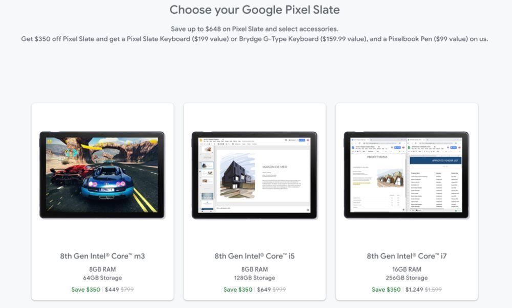 google store pixel slate