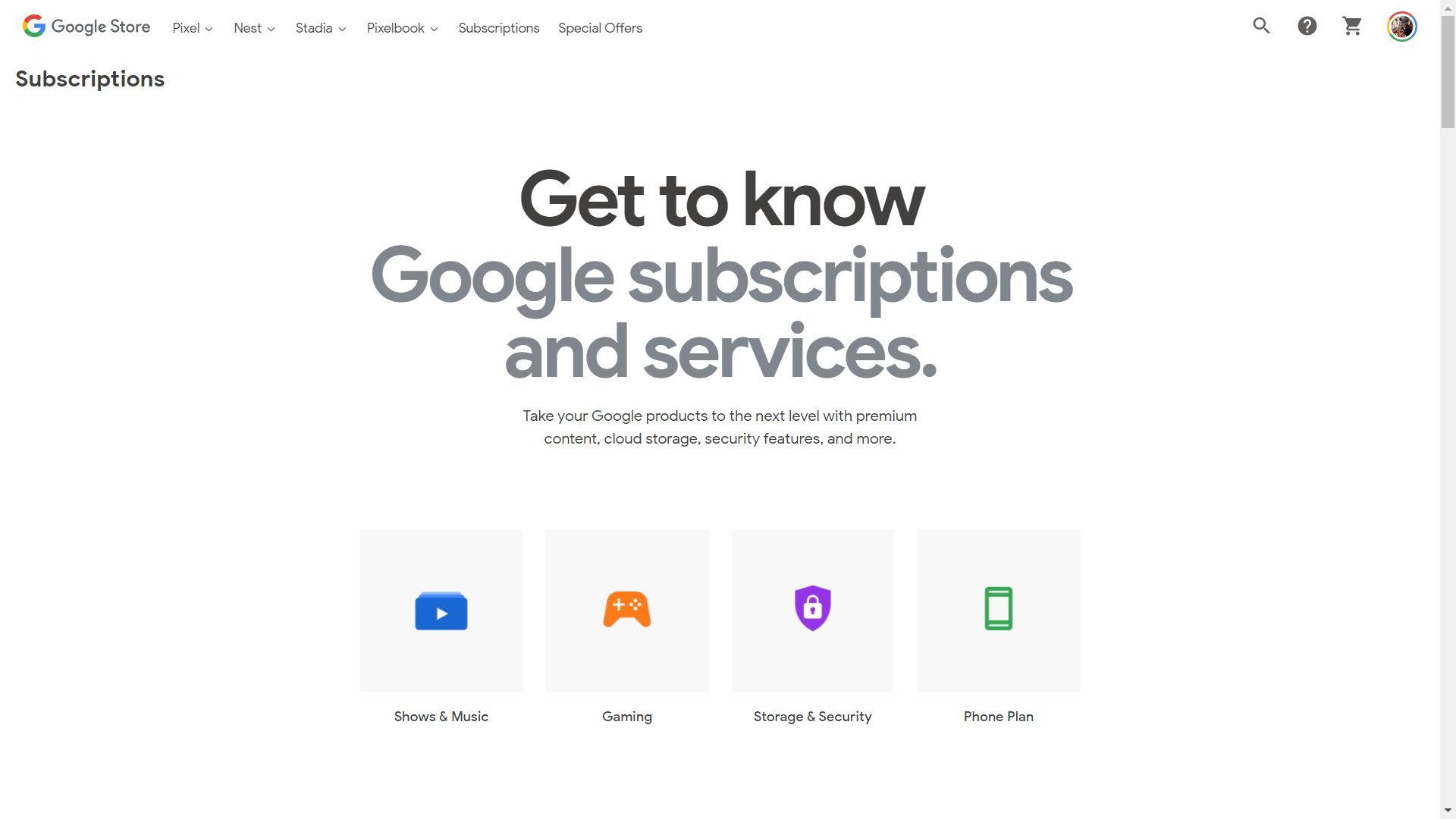 google store subscriptions title