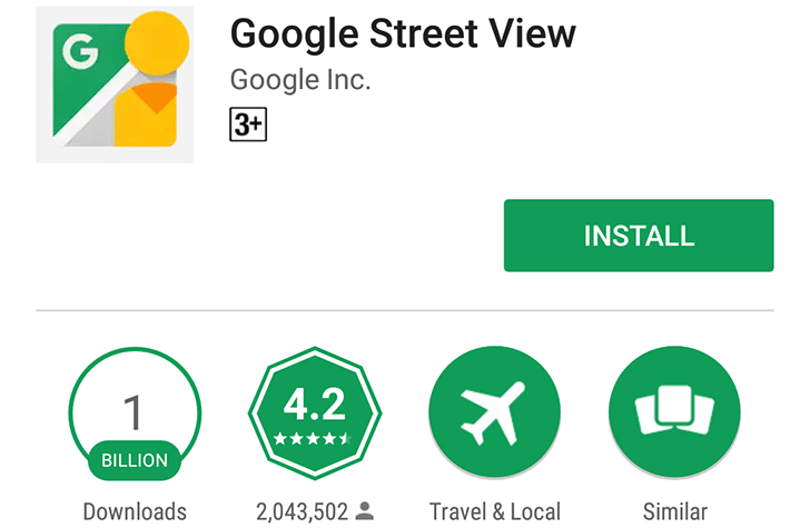 google streetview billion