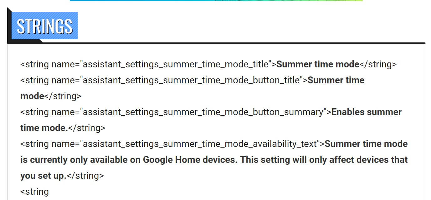 google summer time mode