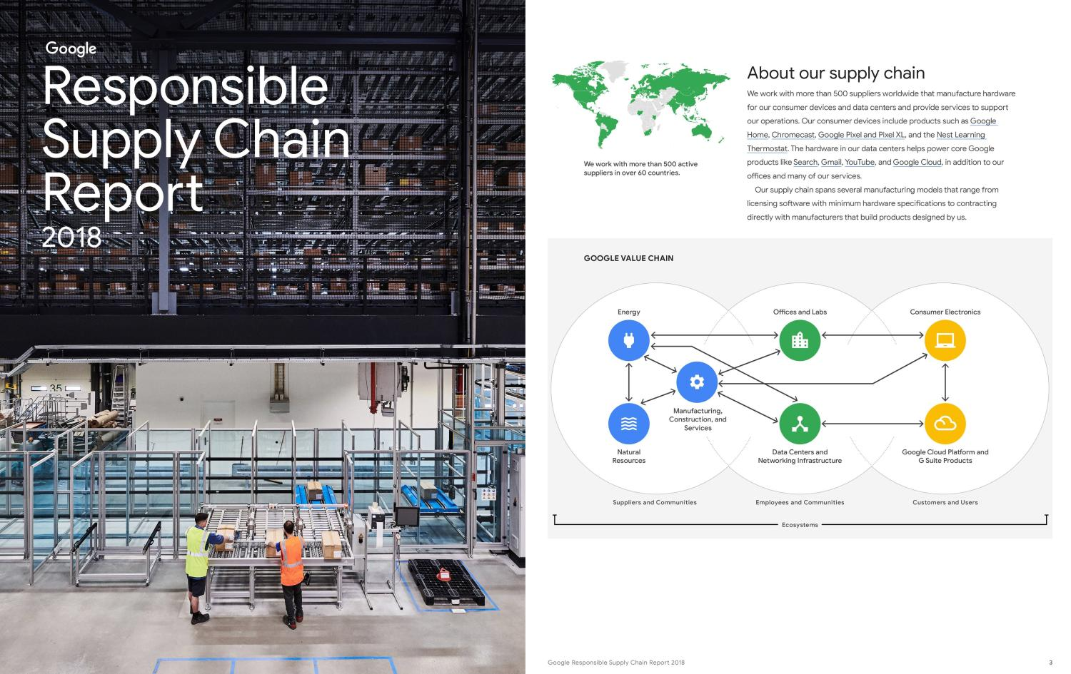 google supply chain report