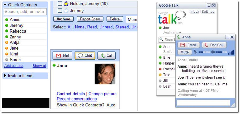 google talk screenshots
