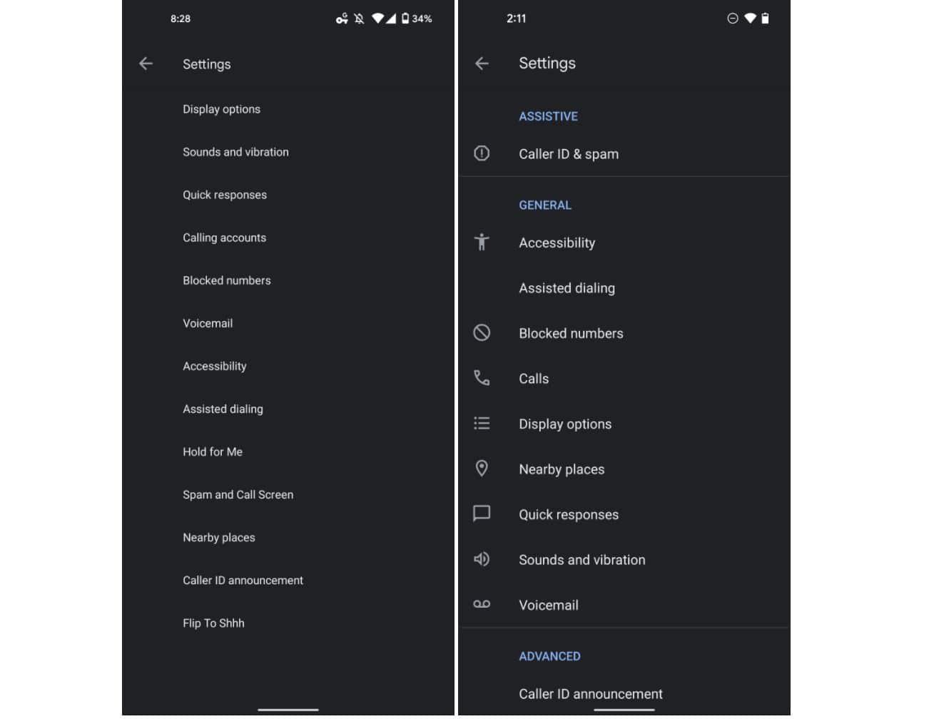 google telefon einstellungen neu