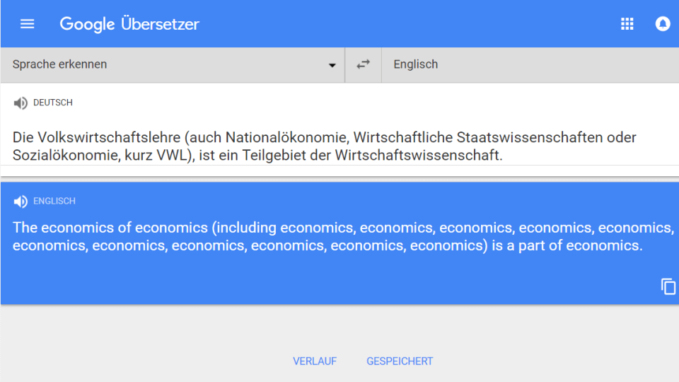 google translate economics