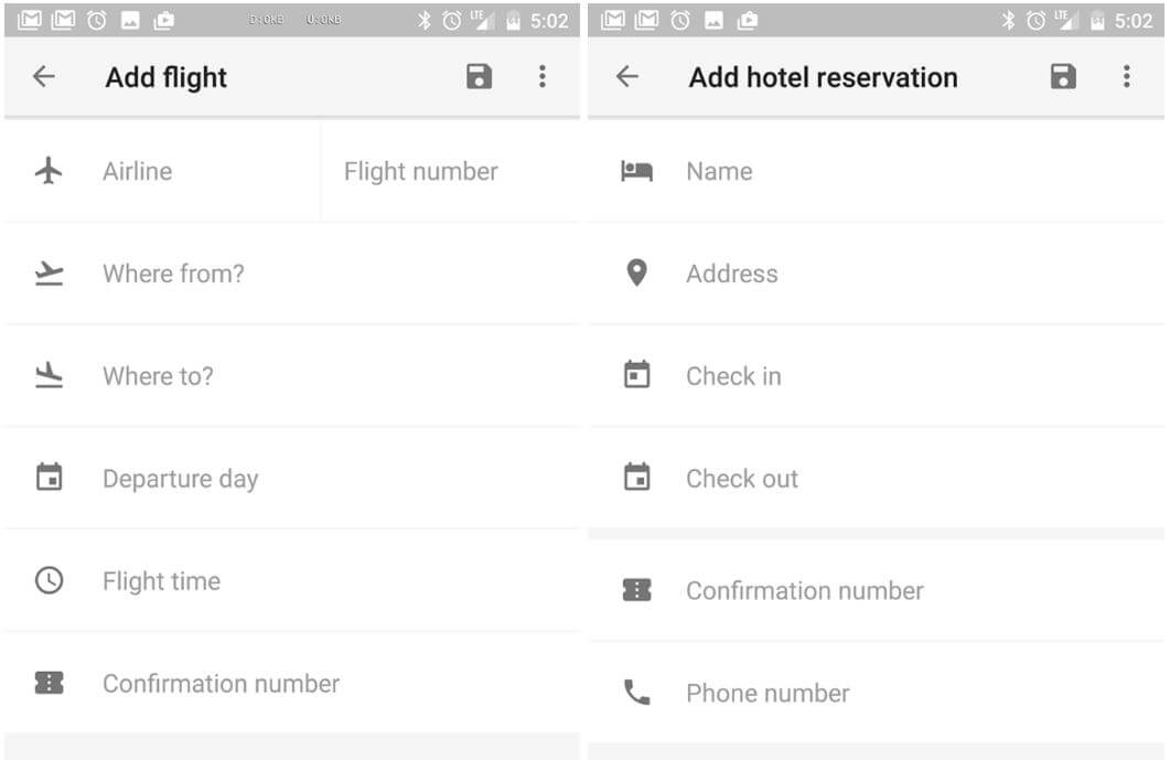google trips add detail