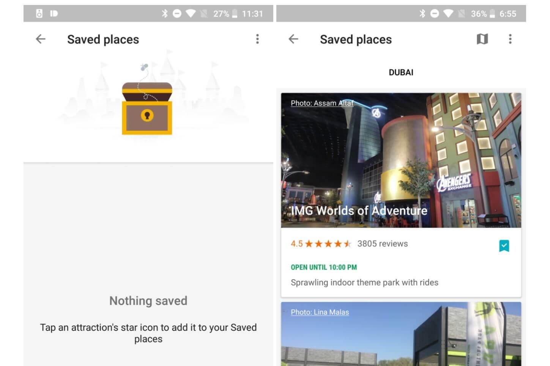 google trips update