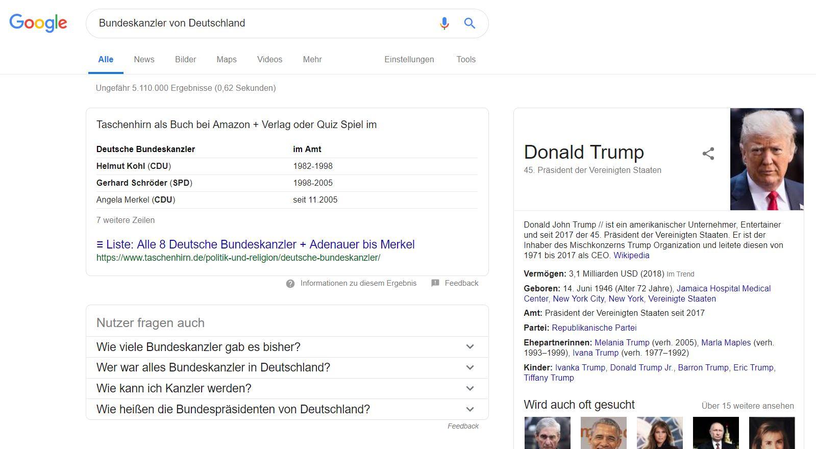 google trump kanzler