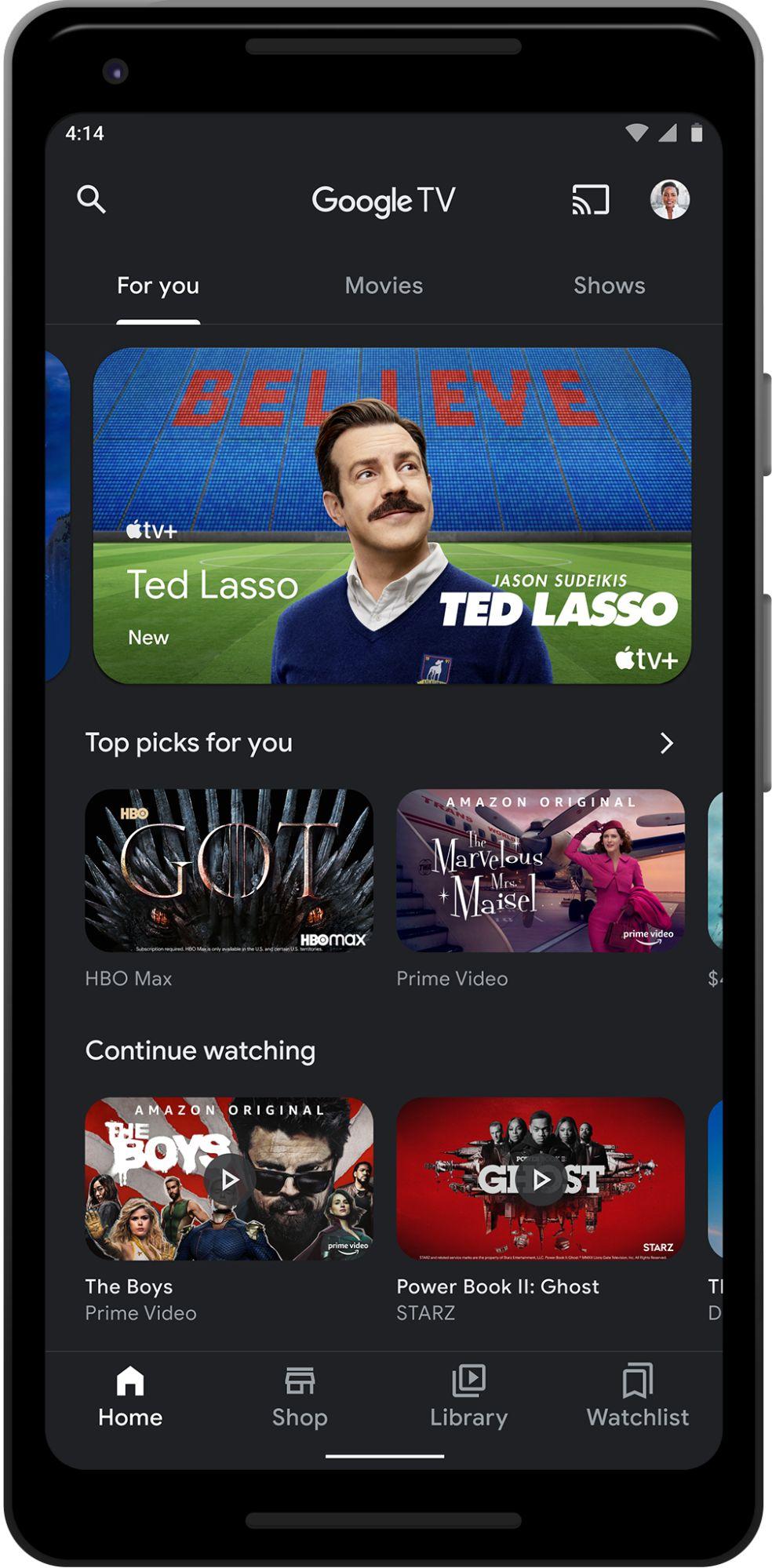 google tv neue android app