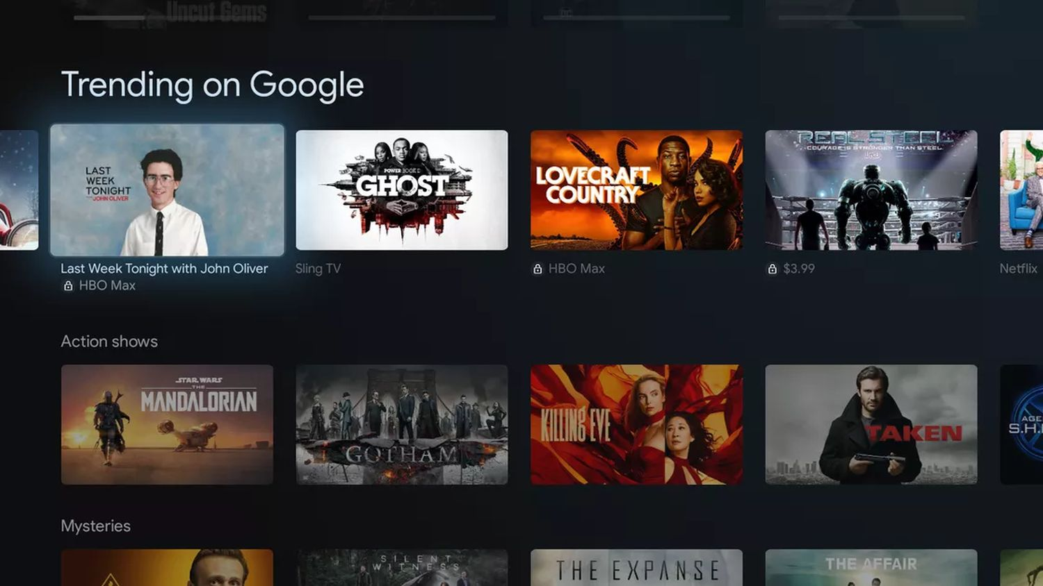 google tv screenshot 2