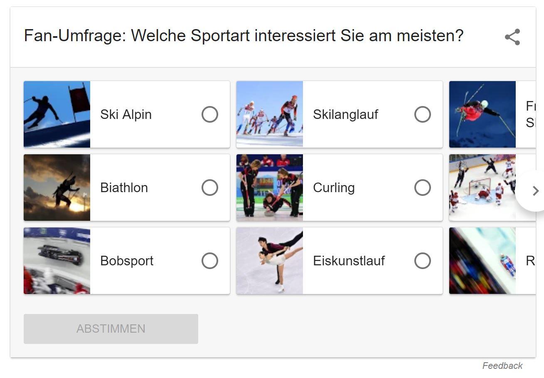 google umfrage olympische winterspiele